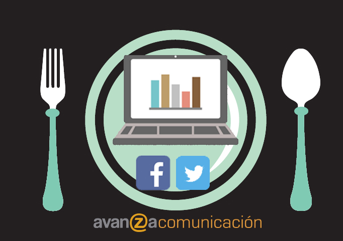 Plato con la receta de marketing online para la empresa
