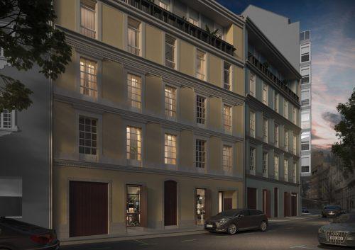01 solvia acoruna fachada nocturna 500x353 - Solvia - A Coruña